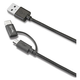 Celly 2in1 USB-kabel, Micro – Type-C-adapter, svart